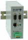 """Ethernet DIN rail mount version with 2 serial interfaces RS232 / RS485"""