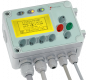 """Ethernet-connection / Smart control unit with 4 relays und 4 inputs 24V, LCD-Display"""